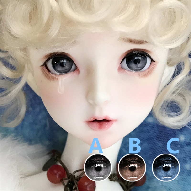 BJD Eyes 3 Colors Eye Pressure 12-18-20mm Eyes For 1/8 1/6 1/4 1/3 BJD SD DD Doll Eyes Doll Accessories Big Tears Style