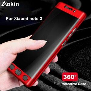 Image 1 - Aokin Dành Cho Xiaomi Mi Note 2 Ốp Lưng Cao Cấp Siêu Mỏng PC 360 Full Dành Cho Xiaomi Note2 Điện Thoại Di Động ốp Lưng Kèm Kính Cường Lực