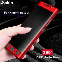 Aokin Voor Xiaomi Mi Note 2 Case Luxe Ultra Dunne Matte Pc 360 Volledige Cover Voor Xiaomi Note2 Mobiele Telefoon case Met Gehard Glas