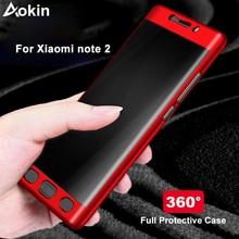 Aokin funda de lujo para Xiaomi Mi Note 2, Ultra delgada, mate, PC 360, cubierta completa para Xiaomi Note 2, funda de teléfono móvil con vidrio templado