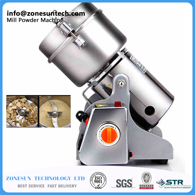 ZONESUN 600G small food ,grain,cereal,spice grinder .stainless steel household electric flour mill powder machine, great value food grinder stainless steel swing milling machine small powder grinding machine home commercial electric flour mill