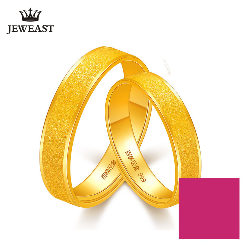 24K Pure Gold Ring Real AU 999 Solid Gold Rings Good Shiny Beautiful Upscale Trendy Classic Party Fine Jewelry Hot Sell New 2018 18k pure gold ring real au 750 solid gold rings good beautiful upscale trendy classic party fine jewelry hot sell new 2018