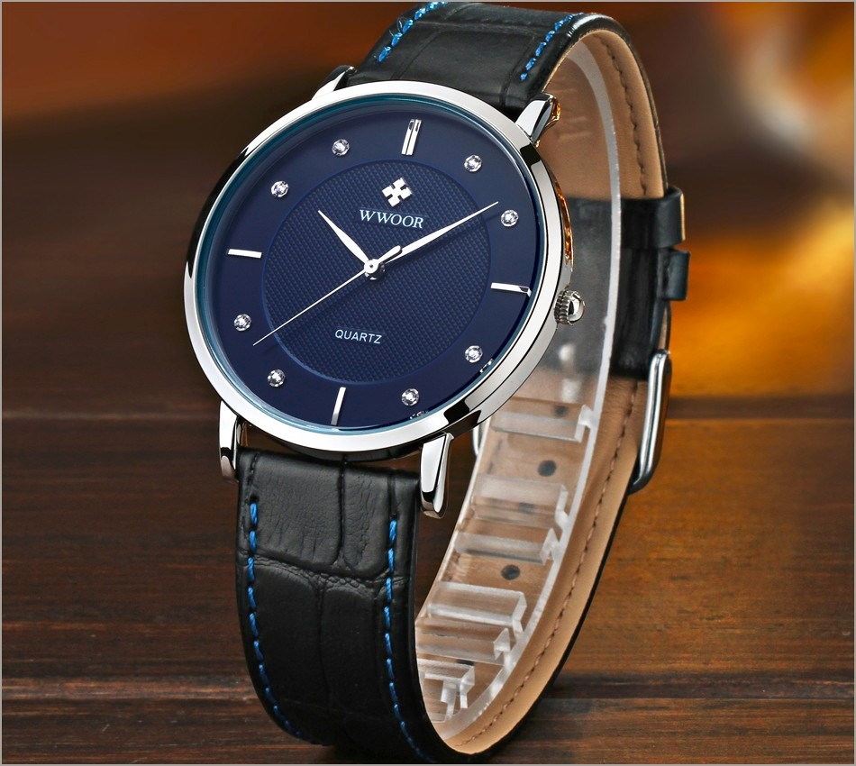 New Top Brand Men Sports Watches Men's Quartz Ultra Thin Clock Genuine Leather Strap Casual Wrist Watch Male Relogio Waterproof 5