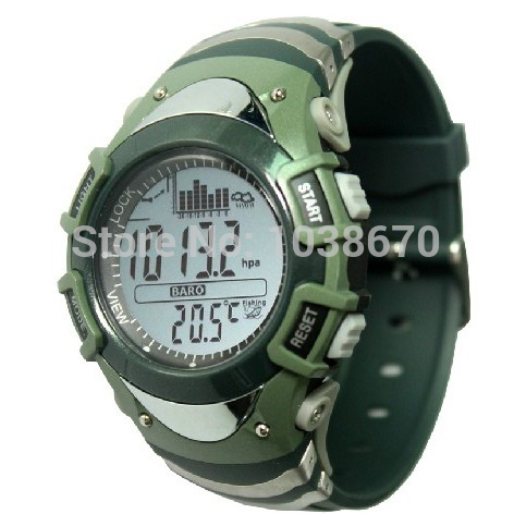 Military Men s Digital Fishing Sport Wristwatch Barometer Thermometer Altimeter Monitor Storm Warning Weather 6 Spot