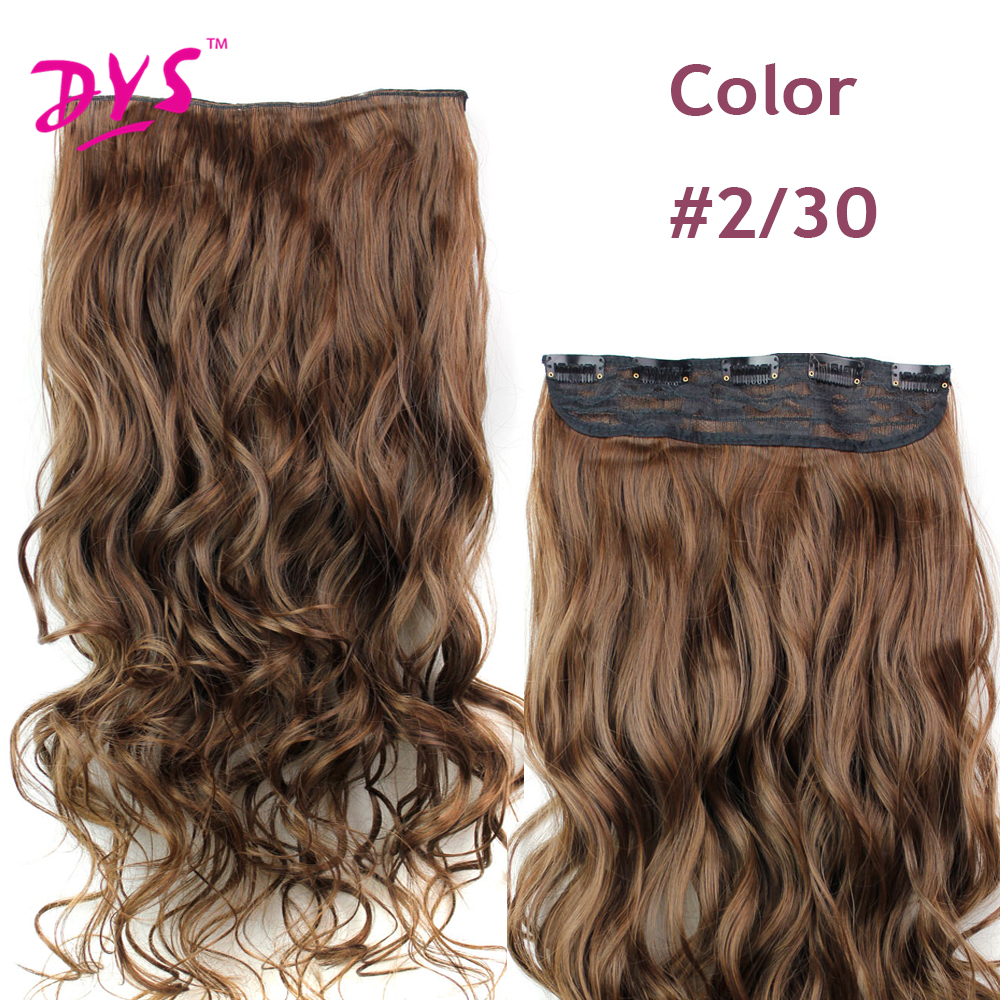 Deyngs 60CM One Piece 5 Clips in Hair Extensions For Women 34 Full Head Long Wavy16 Colors High Temperature Synthetic Fiber (11)