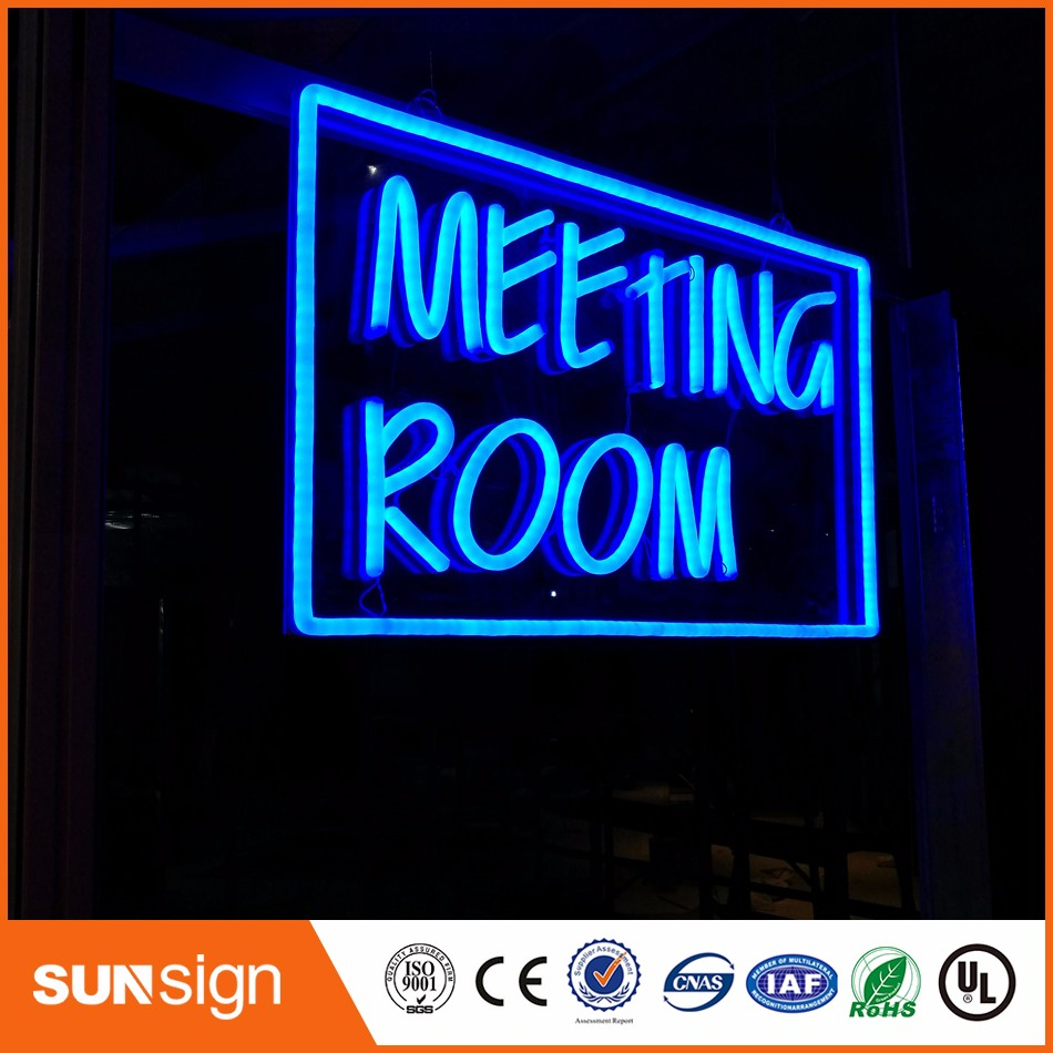 """Papaprice illuminated sign letters  """"Meeting room"""" neon-sign-china neon letters"""