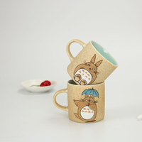 300ml Kawaii Hand Painted Totoro Pottery Ceramic Coffee Mug Ghibli Totoro Water Milk Cups Novelty Gift