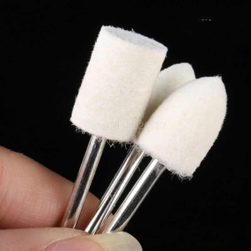 1 個 3 ミリメートルシャンク研削バフ歯科アクセサリーウール研磨マルチブラシグラインダーブラシマシン感じたホイール