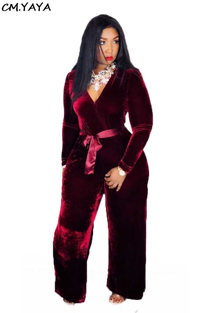 5ac295c22998 Detail Feedback Questions about new women sexy deep v neck sashes high  waist velvet long sleeve straight long pants jumpsuits rompers JH072 on ...