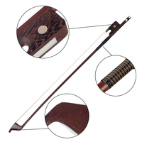 Violin Accessories German Style Bows for Size 4/4 Double Bass Brazilwood Bow Horsehair Bow Hair Great Balance Point Orchestral