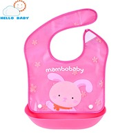 Colorful New High Quality Comfortable Baby Eat Waterproof Bibs Stereo Newborn Pocket Silicone Imitation Rice Children