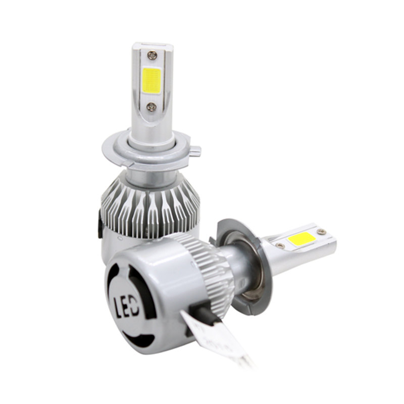 2 Unids / par Hight Bright Car LED Faro H7 COB Chip 8-48v DC 72W - Luces del coche - foto 4