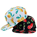 2016 Fashion Flat Along Hat Men Women ALMOSUN Snapck Baseball Cap 3D Fruit Print Hip Hop Hat