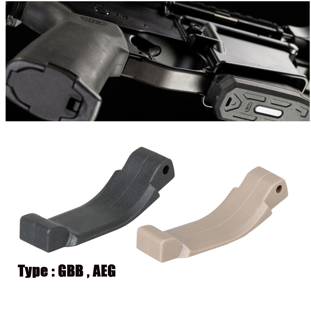 Tactical Black Tan GBB AEG Style Trigger Guard para la caza exterior Paintball Accesorio OS33-0185