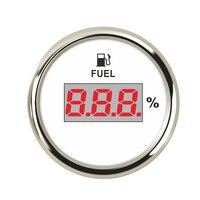 Universal Digital Fuel Level Gauge Meter For Boat RV Car Motorcycle 0 190ohm Signal 12V/24V