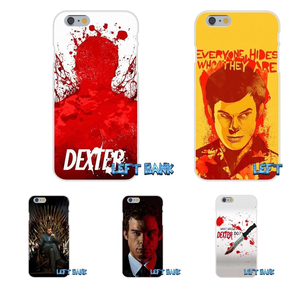 For Samsung Galaxy Note 3 4 5 S4 S5 MINI S6 S7 edge Minimalist Dexter season 3 Soft Silicone TPU Transparent Cover Case