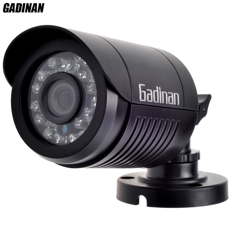 GADINAN Mini Bullet Analog Camera 800TVL 1000TVL Optional Waterproof HD 24pcs IR Leds 3.6mm Lens Day/night Security ABS Housing bullet camera tube camera headset holder with varied size in diameter