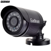 GADINAN Mini Bullet Analog Camera 800TVL 1000TVL Optional Waterproof HD 24pcs IR Leds 3 6mm Lens