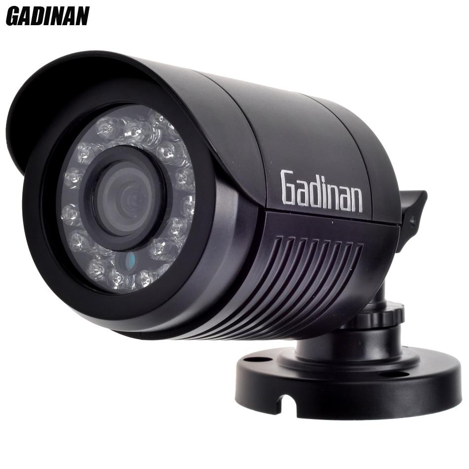 imágenes para Gadinan mini bullet analógica cámara 1000tvl opcional a prueba de agua hd 24 unids 800tvl ir leds 3.6mm lente día/noche cubierta del abs de seguridad