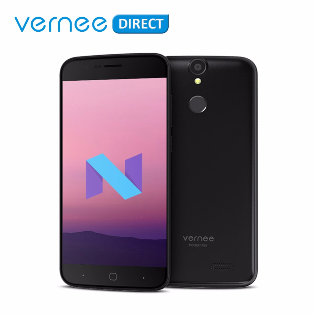 Оригинальный Новый мобильный телефон vernee Thor Octa-Core 3 ГБ ОЗУ 16 ГБ ПЗУ две sim-карты Android 7,0 13MP 5MP 4G Lite телефон