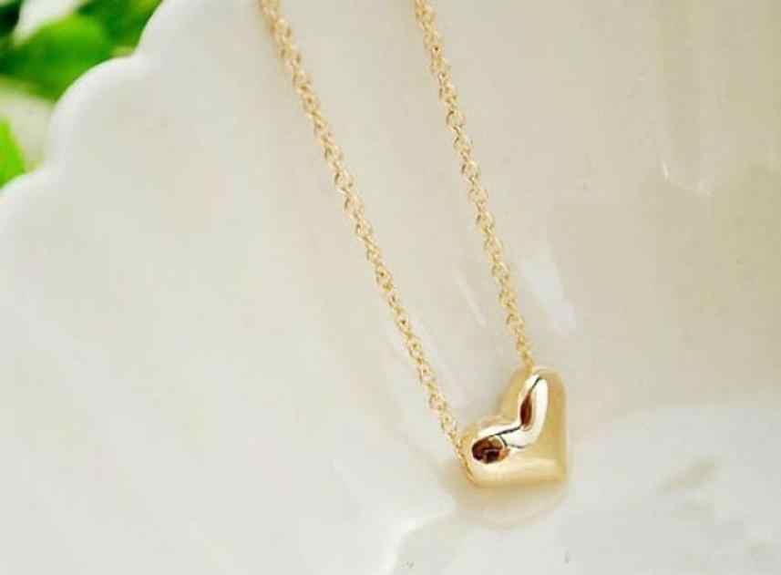 Moda feminina colar de ouro coração bib declaração corrente pingente colares acessórios jóias vintage requintado torque trinket