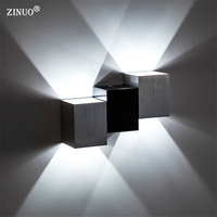 Modern 2W Square Led Wall Lamps Wall Mounted Sconce Light Decoration For Dining Room Hallway KTV