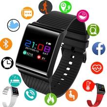 LIGE New Listing Fitness Tracker Pedometer Men Women Sport Smart Bracelet LED Color Touch Screen Information Reminder smartwatch