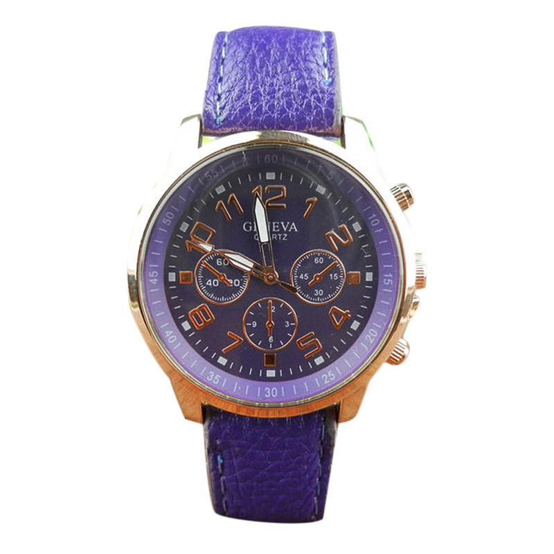 2016 Fashion Womens Mens New Unisex Leather Band Analog Quartz Vogue WristWatch font b Watches b