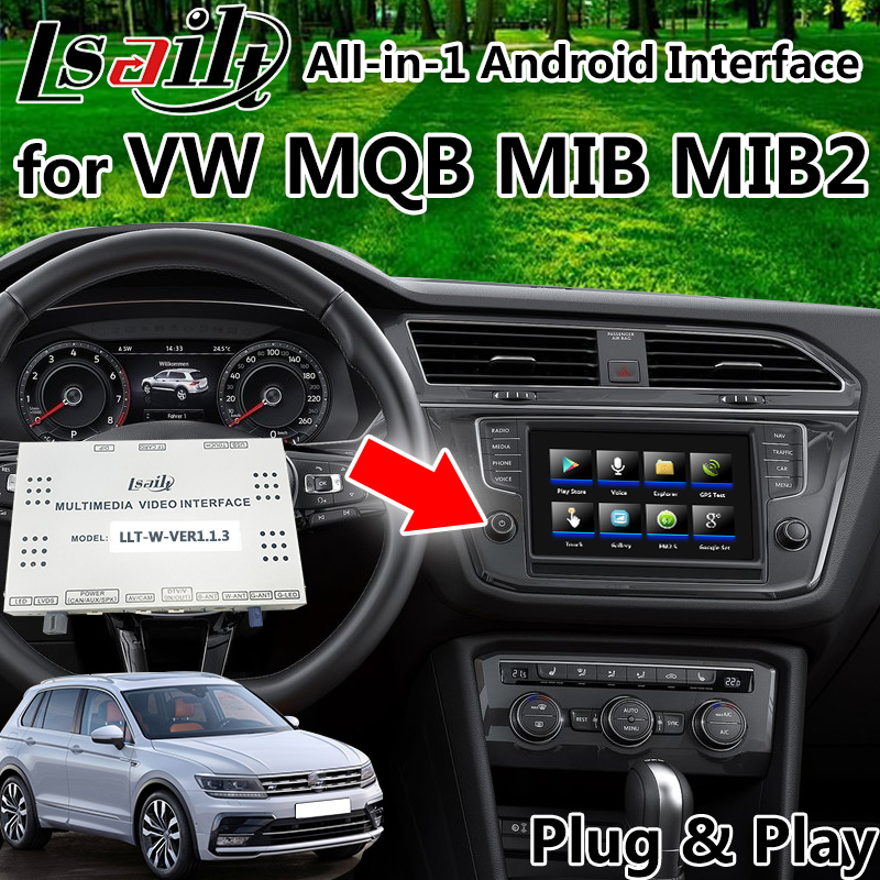 US $550 0 |All in 1 Pin to Pin Android GPS Navigation Box for Volkswagen  Tiguan CC Sharan MQB MIB MIB2 with youtube carplay mirrorlink -in Vehicle  GPS