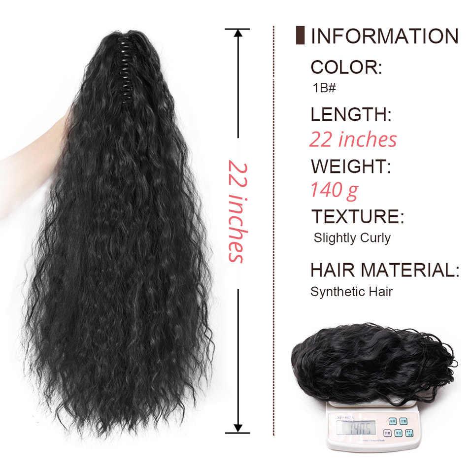 22 ''55 cm czarny syntetyczny długi kucyk rozszerzenie perwersyjne prosto Claw przypinany kucyk na przedłużanie włosów dla kobiet brązowy