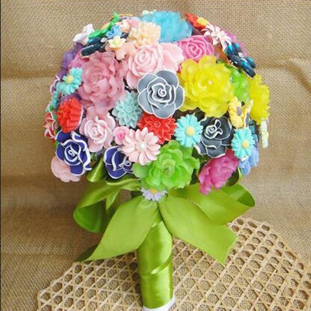 100 % Handmade Upscale Fashion Colors Silk Artificial Flowers Bride ...