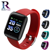116plus Smart Watch Blood Pressure Heart Rate Monitor Mnformation Reminds Sports Waterproof Pedometer Men