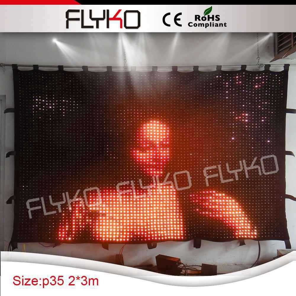 04b3ce991 O envio gratuito de atacado equipamento controlador PC P35mm 7ft alta x  10ft largura cortina de vídeo de iluminação de palco