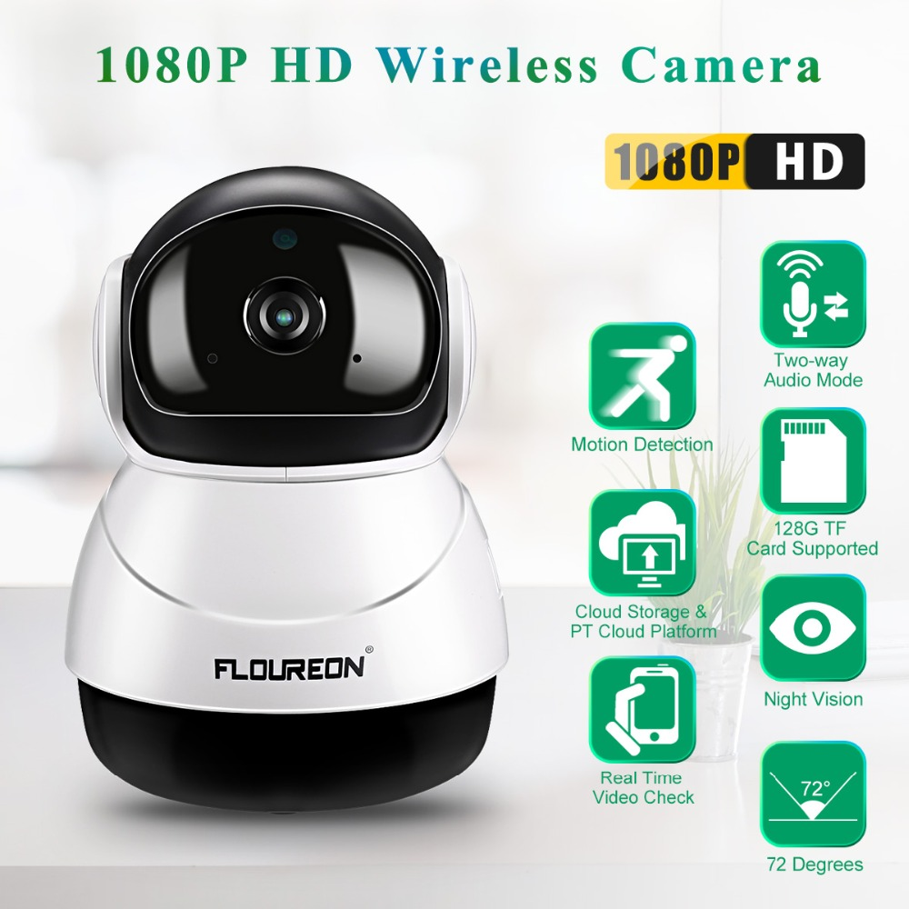 Wireless 1080P HD WiFi P//T IP Camera Security Motion Detection Night Vision USA