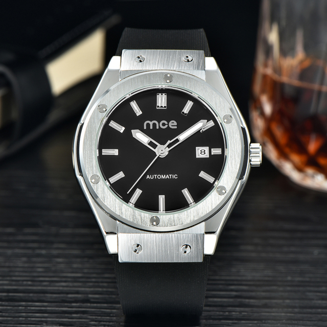 Fashion Brand MCE Men Watch Hollow Calendar Automatic Mechanical Casual Watch Mens Luxury Watches With Original Box 0301
