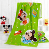 Disney Cartoon Animation Towels Authorized Merchandise Mickey Series Rainbow Mickey Printed Children Towels Square Towels