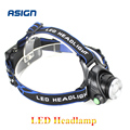 LED Headlight T6 Waterproof led 2000LM Not included rechargeable 2*18650 Head lamps 3 Modes Head light Zoomable Torch