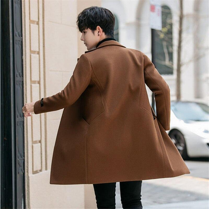 Plus D'hiver marron kaki Noir Manteau Hommes Casual 2018 Coréenne Long Taille Mode La bleu gris Style Manteaux dCsQxrth