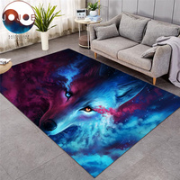 Where Light And Dark Meet by JoJoesArt Carpets Wolf Lion Large Area Rug for Living Room Modern Home Mat Anti dirty alfombra