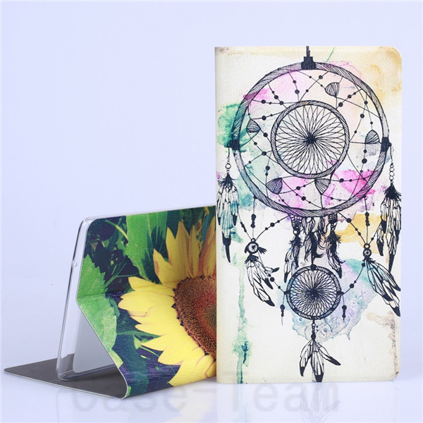 Fashion Painted PU Leather Stand Cover Case For Huawei Mediapad T1 S8-701U S8-701W 8.0 Inch Tablet Case