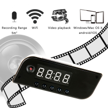 Mini WIFI Camera Clock Alarm P2P IR Night Vision Wifi Cam IP 720 DV DVR Camcorder Remote Control Wireless Micro