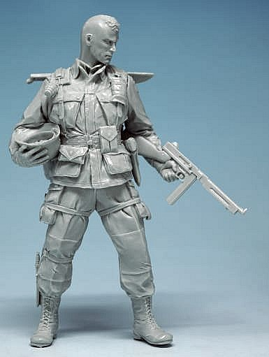 Assembly Unpainted  Scale 1/16 Us Paratrooper 101 Airborne Normandy 120mm  Figure Historical  Resin Model Miniature Kit