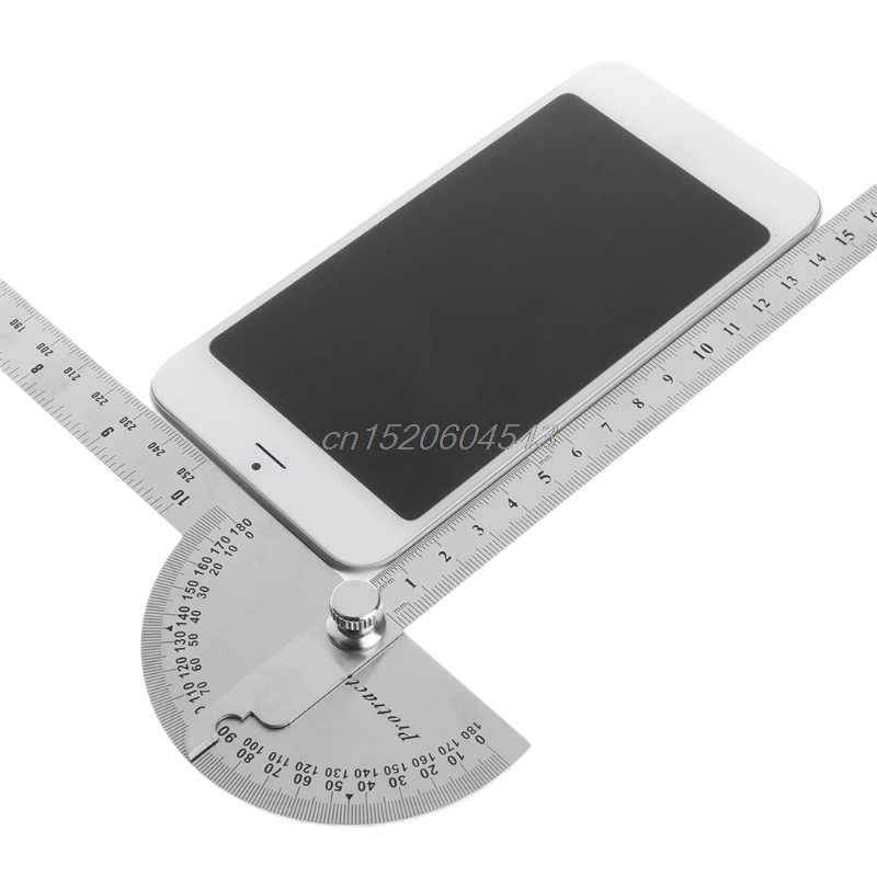 купить Stainless Steel Angle Ruler 180 degree Protractor Finder Arm Measuring Tool New Drop ship по цене 592.26 рублей
