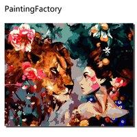 PaintingFactory Бескаркасный конструктор «сделай сам» картины маслом по номерам на холсте стены картины на стену для Гостиная украшения дома