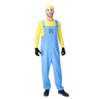 Adult Males Minions Despicable Me Cosplay Fun And Fantasias Costumes Plus Size XL Themed Party Halloween