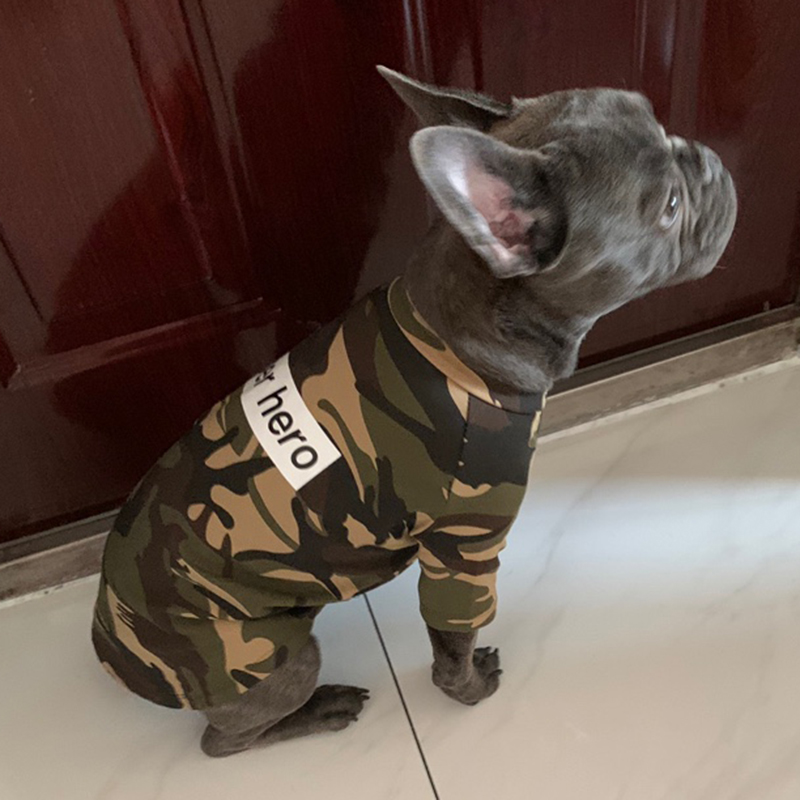 Camouflage Pet Dog T-shirt Summer Dog Vest Clothes For Small Dogs French Bulldog Sphinx Shirts Cotton Puppy Cat Suit Clothing