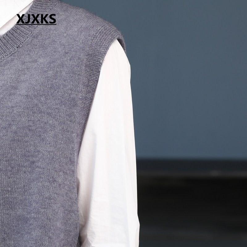 Nuove Di Lavorato Del Maglione Gilet Merletto Senza Up Donne grigio Xjxks Maniche Maglia Donna Della Cappotto Originalità Streetwear A blu Giovane Modo Signore Nero Autunno Il wtCaXfqx
