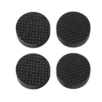 Douk Audio 4PCS Black Carbon Fiber Speakers Spikes Isolation Stand Feet for AMP CD Players Amplifier Accessories