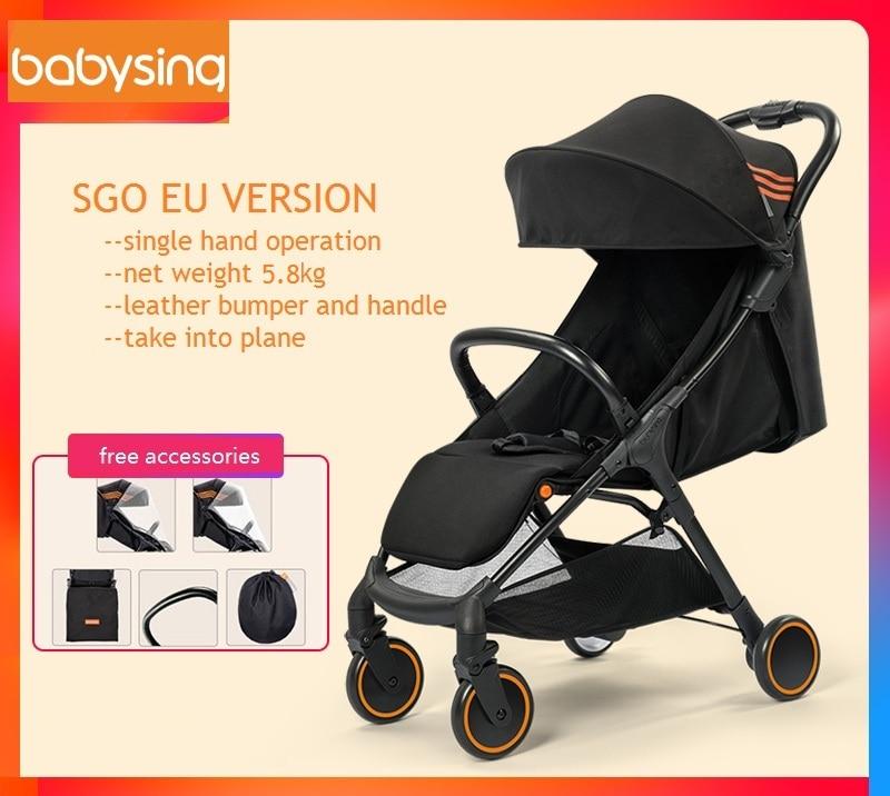 babysing új könnyű hordozható babakocsi SGO, összecsukható és a repülőgép babakocsiba, babakocsiba szállítható