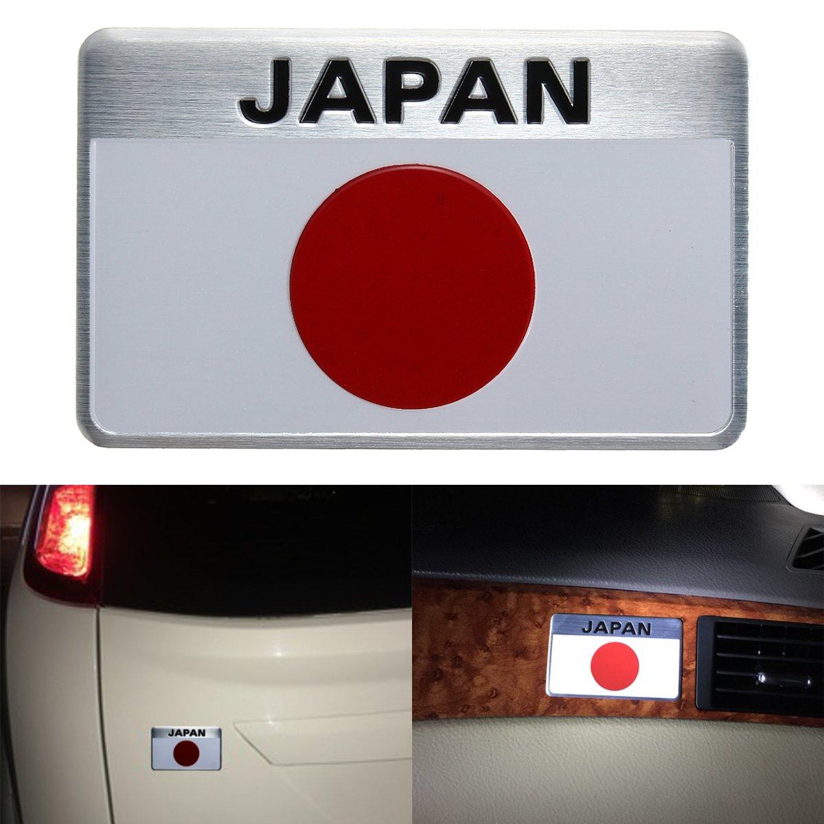 Universal 8 x 5cm Japanese Red Sun Flag Badge Emblem Sticker For Toyota /Honda /Nissan Japan Cars